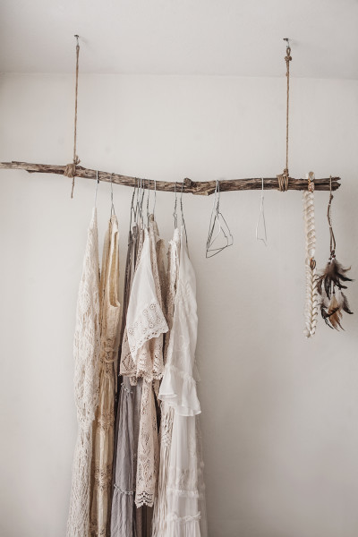 branch clothing rack / Elle Decoration
