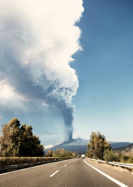 Sicily - mount Etna erupts